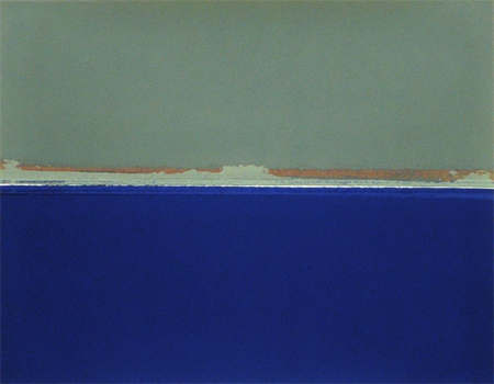 The Sea, silkscreen on paper by Roel Goussey, 2007